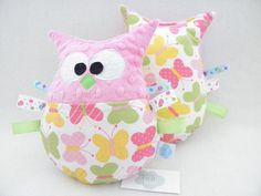 sowa przytulanka minky motylki owl butterflies http://sklep.tulibuzi.pl/index.php?id_category=22&controller=category