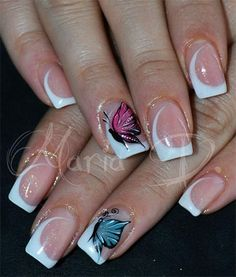 french+nail+designs+Gel | ... French Gel Nail Art Designs, Ideas, Trends & Stickers 2014 | Gel Nails