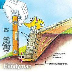 Get strong, long-lasting retaining walls.