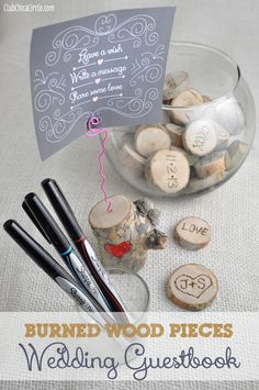 Interactive Crafty Burned Wood Pieces ... What if we took this idea and had everyone write down a Christmas wish or something they are thankful for and turn them into ornaments (drill hole and loop ribbon through)!!!