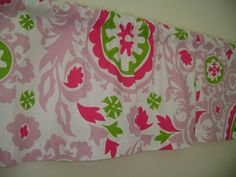 Candy Pink Valance Chartreuse Valance Girls by CleusaSordiDecor on Etsy
