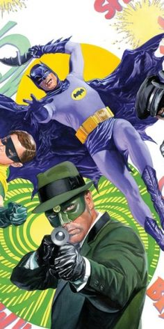 Alex Ross Revives Batman 66 Meets Green Hornet & Astro City - Everything old is new again as painter Alex Ross tackles Adam West, Burt Ward and the heroes of Astro City in his latest cover work.