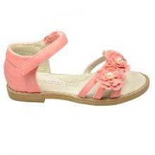 Sandales décorées de fleurs à perles.
