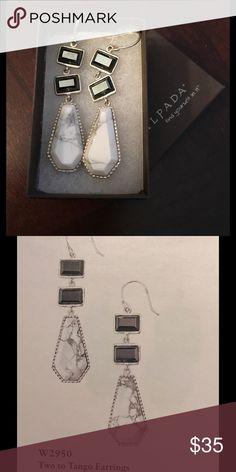 Silpada earrings W2950 Silver, magnesite, hematite. Table display Silpada Jewelry Earrings