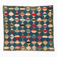 String Quilt - String Squares: Collections Mingei, c. 1890, North America, U.S.A., Missouri? artist unknown