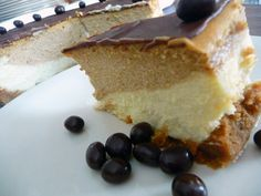 Coffee-and-Espresso Layered Cheesecake by Brown Eyed Baker