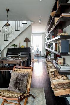 """georgianadesign: """"'Greenwich Village brownstone.' Katie Martinez Design, interior designers, San Francisco, CA. Aubrie Pick photo. """""""