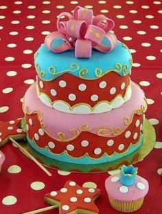 mooie en kleurrijke taart