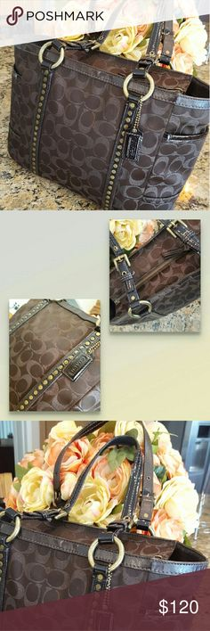 Coach brown bag MOST OFFERS ACCEPTED  great condition great details❤❤❤ Coach Bags