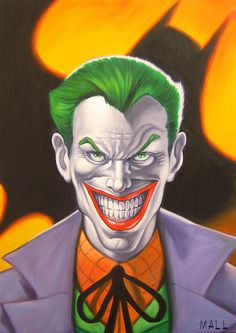 joker comic book art