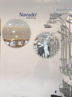 design Navado Mirror art 0961446565 Luxury Mirror, Mirror Art, Christmas Bulbs, Holiday Decor, Showroom, Jewelry, Design, Jewlery, Christmas Light Bulbs