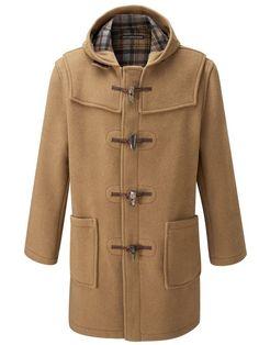 Original Montgomery Mens Wooden Toggles Duffle Coat (48, Camel ...