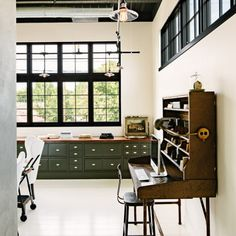 A super cool, energy-efficient, industrial-modern, open loft space home in Portland (image via Remodelista)