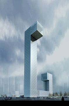 Gezhouba International Plaza, Wuhan, China ::80 floors, one of the concept designs