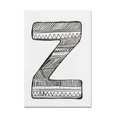 Postcard . Alphabet A-Z - A6 / Individual Letters