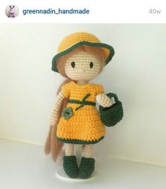Instagram. PICTURE ONLY for inspiration. Crochet amigurumi doll ☆