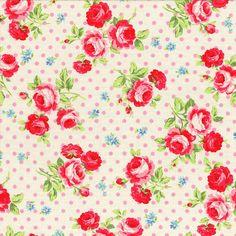 Sucre  de fleurs Roses sur les points roses en par lilyrosequilts, $9.99