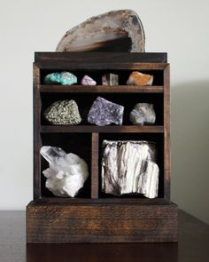 A beautiful way to display your gem and mineral collection.