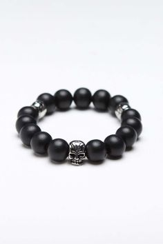 Ive never worn these, but I want this Steeltime Skull Beaded Bracelet