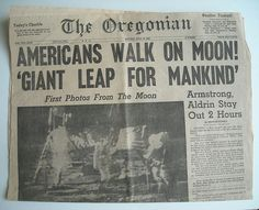 Oregonian Headline 1969 This was such a really cool big deal.