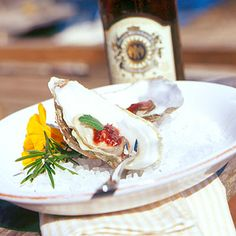 Cocktail Oysters with Oysterville's Finest Cocktail Sauce | Coastalliving.com