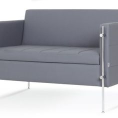 This charming City sofa boasts a look that is rich and elegant with its glossy chrome bars and flattering appearance. The irresistible one-seater and two-seater come in a total of two different smart and sophisticated shades of gray, which ensure they easily coordinate. The sofa possesses a look that will surely give your place that missing touch of contemporariness. The lovely chrome bars beautifully structure the sofa and gorgeously complement its style and appearance. Trash Bins, Comfortable Sofa, Recycling Bins, Sofa Set, Shades Of Grey, Love Seat, Chrome, Relax, Couch