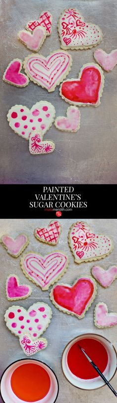 Painted Valentine's Sugar Cookies. Decorate with all kids of fun designs! MarlaMeridith.com ( @marlameridith 0