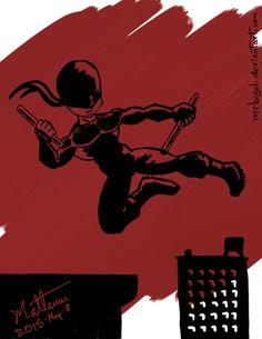 Alvaro Matteucci - Daredevil. - #daredevil #samsung #notepro #wacom #corel #paintermobile