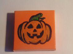 Handmade Jack-o-Lantern Magnet Halloween Pumpkin by YumJellyDonuts