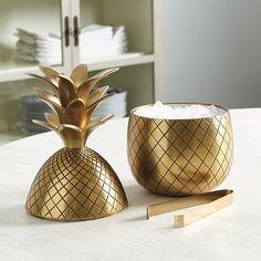 Bunny Williams Pineapple Ice Bucket | Ballard Designs
