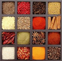 indian spices - want to frame this and have it in my kitchen..
