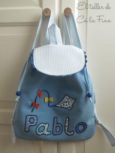 Mochila de guardería personalizada para Pablo #mochilasdeguarderia #mochilaspersonalizadas #mochilasinfantiles