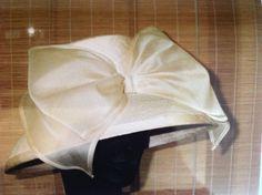 Silk organza drape with bow