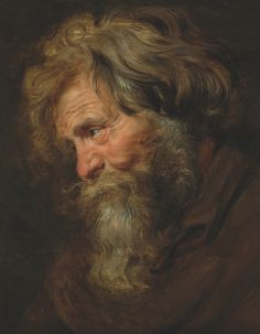 The Weiss Gallery, Sir Peter Paul RUBENS, (1577 – 1640), Study (tronie) of an old man, c. 1615-1618, Oil on panel, H.: 48 x L.: 37.5 cm.