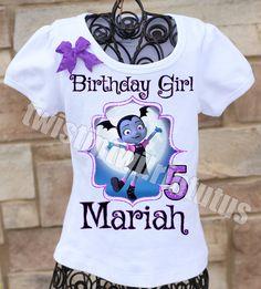 Vampirina Birthday Shirt | Vampirina Birthday Outfit | Vampirina Birthday Party Ideas | Twistin Twirlin Tutus