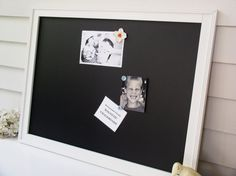 Love this idea too...Magnetic Chalk Board