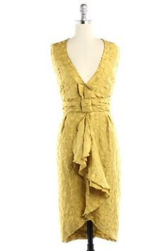 80a50a66ac BHLDN Yellow Silk Tethered Vintage Bridesmaid Mob Dress Size 12 (L) 75% off  retail
