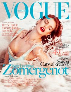 Dutch model Rianne ten Haken photographed by Petrovsky & Ramone for the cover shoot of the fashion magazine Vogue Netherlands for their July-August 2012 issue. Vogue Magazine Covers, Fashion Magazine Cover, Fashion Cover, Vogue Covers, Best Fashion Magazines, Catherine Mcneil, Fashion Bible, Charlotte Gainsbourg, Getting Wet
