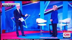 Body language of Hillary Clinton Townhall