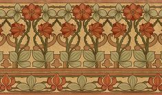 Wallpaper by William Morris--I'd love this beneath a chair rail in a dining room. Arts And Crafts For Teens, Art And Craft Videos, Arts And Crafts House, Home Crafts, William Morris, Craftsman Interior, Craftsman Style, Craftsman Decor, Arts And Crafts Interiors