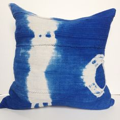 Blue african mudcloth pillows cover by HouseofPillows on Etsy