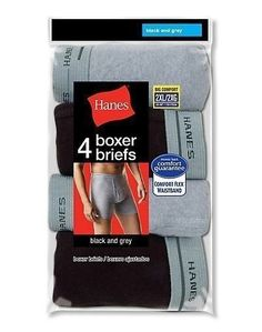 8 Hanes Men's Boxer Briefs Underwear Value Pack - BLACK/GREY - 2XL-3XL #Hanes #BoxerBrief