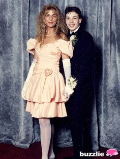 Jimmy Fallon's prom picture is an absolute gem. The late-night host is straight out of the early '90s with his pasty white skin, crazy cowlick, and black tux.