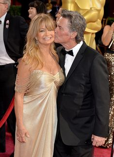 Goldie Hawn and Kurt Russell at an event for The Oscars (2014)
