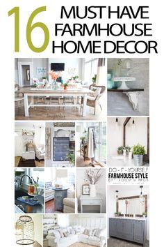 DIY projects for a farmhouse home decor