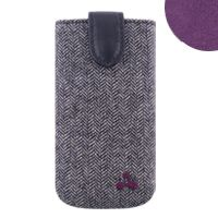 Oxford Tweed Pouch - Purple Lining  For iPhone
