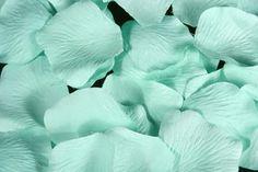 aquamarine rose petals