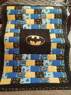 Easy to sew child's batman quilt. Directions for sewing a small ... : batman quilt pattern - Adamdwight.com