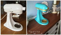 Yes People, I painted my KitchenAid Mixer! I've been wanting to do it for sometime and when Plutonium Paint came my way I knew it was the PERFECT paint for my p…