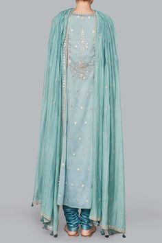 Designer Suits - Buy Ayaana Suit for Women Online - Blue - Anita Dongre Pakistani Dress Design, Pakistani Outfits, Indian Wedding Outfits, Indian Outfits, Suits For Women, Clothes For Women, Indian Designer Suits, Embroidery Suits, Zardozi Embroidery